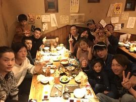 R,元年11月 広島打ち上げ+誕生日会